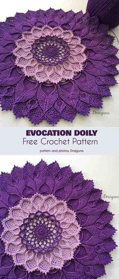 45 Ideas Crochet Lace Pattern Free Doilies For 2019 Motif Mandala Crochet, Crochet Motifs, Crochet Flower Patterns, Thread Crochet, Crochet Flowers, Crochet Stitches, Mandala Rug, Mandala Blanket, Crochet Patterns Filet