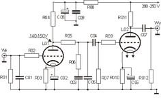 Projekty lampowe - preamp RIAA Electronic Circuit Projects, Electronic Engineering, Guitar Effects Pedals, Guitar Pedals, Power Supply Circuit, Valve Amplifier, Electronic Schematics, Circuit Diagram, Shop Layout