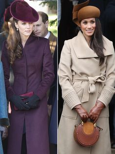 Here's how the two big moments matched up!......WILLIAM'S KATE AND HARRY'S MEGHAN......LET'S HOPE THEY BECOME GOOD FRIENDS........ccp