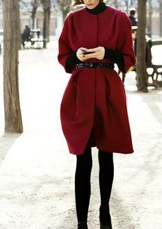 Wine Red wool women coat women dress coat by happyfamilyjudy, $96.99 https://www.etsy.com/treasury/NTM5ODkzNXwyNzIyNzIwMzg3/all-i-want-for-christmas