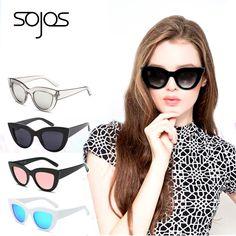 2016 Sunglasses  women with box Classic Cat Eye Style Brand Designer Fashion Shades black plastic Sun Glasses oculos de sol 2939