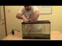 DIY my aquarium with filtration under gravel for crystal water - YouTube