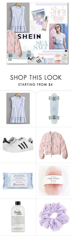 """""""cotton candy daydreams"""" by pinkcupcake14 ❤ liked on Polyvore featuring adidas, Hollister Co., First Aid Beauty, Pelle, philosophy and Calvin Klein"""