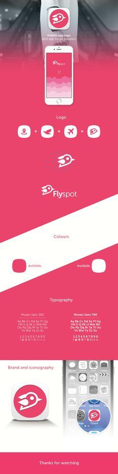 Flyspot App Logo Design on Behance
