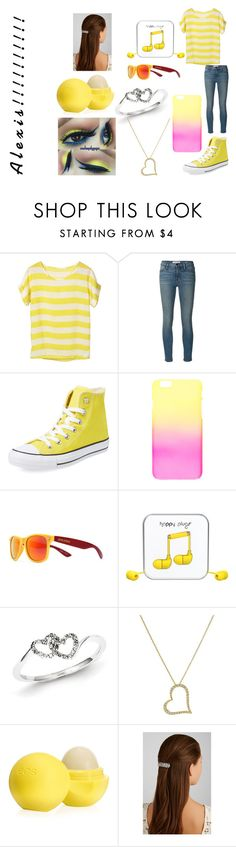 """""""Alexis' outfit"""" by adara-omgg-laceup ❤ liked on Polyvore featuring beauty, Frame Denim, Converse, Society43, Happy Plugs, Kevin Jewelers, Roberto Coin, Eos and Jennifer Behr"""