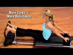 modifications---Introducing AeroPilates55-5000 5 cord reformer with extended standing pl...