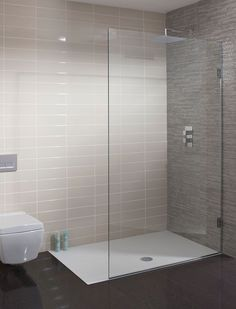 Ensuite - walkin shower TEN Single Fixed Panel in Ten Bathroom Design Small, Bathroom Layout, Modern Bathroom, Bathroom Designs, Bathroom Interior, Bathroom Shower Panels, Steam Showers Bathroom, Shower Rooms, Wet Room Shower Screens