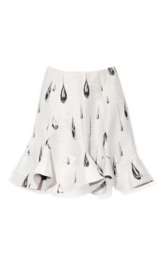 Raindrops Pattern Skirt by Vika Gazinskaya Now Available on Moda Operandi