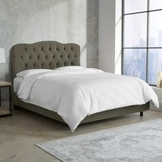Shop for Skyline Furniture Tufted Bed in Velvet Pewter. Get free shipping at Overstock.com - Your Online Furniture Outlet Store! Get 5% in rewards with Club O!