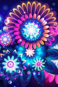 万華鏡のような花がら模様