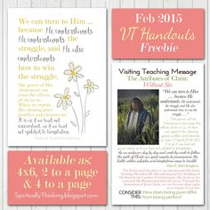 ....and Spiritually Speaking: Feb 2015 VT Message - Attributes of Christ: Without Sin - Handout/Printable