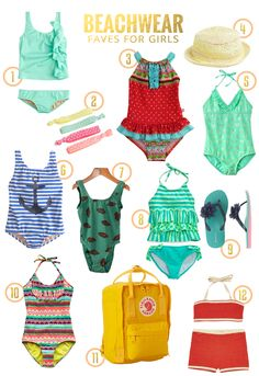 Beachwear Favorites for Girls // Summer 2014! | Top swimsuit picks for your girl by Fresh Mommy Blog, for every style and budget.