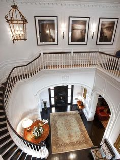 We love that you can look down from the second floor and see the entire foyer.