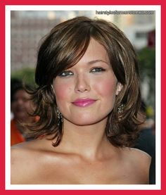 haircut for thin hair with round face. This looks like it would take some styling, which I have little to no skills at.