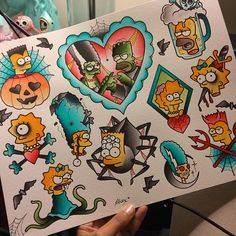 the simpsons tattoo flash