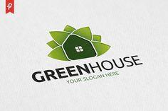 Green House Logo by ft.studio on @creativemarket