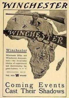 Vintage Ads, Vintage Posters, Old Advertisements, Advertising, Tactical Shotgun, Lever Action Rifles, Hunting Equipment, Hunting Rifles, Strange History