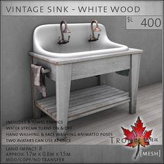 Vintage Bathroom pieces – fun and functional for FaMESHed March ...