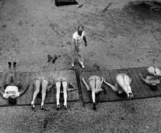 Women training on Rose Dor Weight Loss Farm. Photo by Alfred Eisenstaedt, 1938