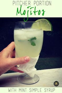 Pitcher Portion Mojitos with Mint Simple Syrup - Homeology Modern Vintage