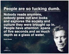 (9) Gaya Jugurtha Geldasen jakoi käyttäjän The Mind... - Some hard hitting words from David Bowie.  Thoughts?  https://www.facebook.com/Gayageldasen/posts/1128115460534680