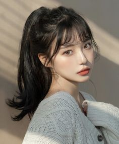 i would like to be a hair styles Korean Beauty Girls, Pretty Korean Girls, Cute Korean Girl, Asian Beauty, Uzzlang Girl, Girl Face, Photographie Portrait Inspiration, Ulzzang Korean Girl, Aesthetic Hair