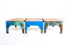 Table basse en Acier oxydé par copperoxyd sur Etsy