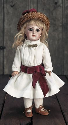 """Theriault's - 13"""" Petite French Bisque Bebe Jumeau, E.J. Depose, c 1885"""
