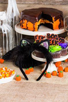Black Velvet Cat Ear Head Band