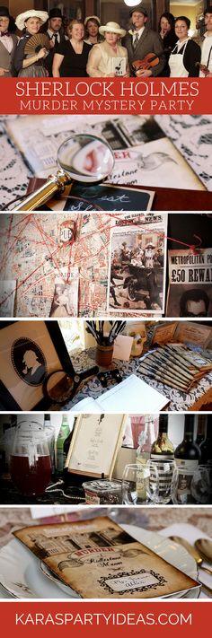 Sherlock Holmes Murder Mystery Party via Kara's Party Ideas - KarasPartyIdeas.com