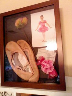 Made my ballerina daughter a shadow box of her first year of dance!