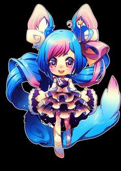 Anime Girl - Blue