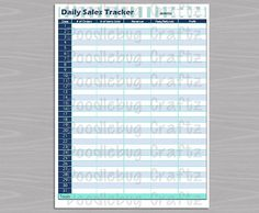 The Easy Life  Etsy Seller Daily Sales Tracker Excel Spreadsheet