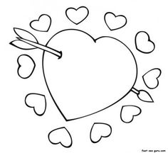 Heart coloring page Download Free Heart coloring page for kids