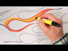 ▶ How to Draw Flames for Cars (Part 1) - YouTube