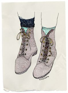 Mis botas favoritas by littleisdrawing on Flickr