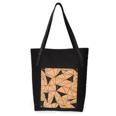 "Pocket Tote in Black Twill with Geo Cork | When it comes to the Pocket Tote, there's more than meets the eye. A great everyday bag, the Pocket Tote features: Sturdy, water-resistant twill body Comfortable leather straps with English point finish. 10.25"" handle drop Exterior cork pocket for easy access to necessities Internal laptop pocket with leather tab closure."