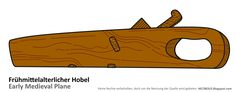Frühmittelalterlicher Hobel (6. Jh., Bayern) --- Early medieval plane (6th century, Bavaria)