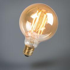 LED Fadenlampe lang rustikal Globe 95mm E27 2.7W 170LM 2000K