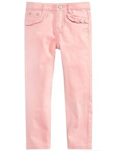 Epic Threads Little Girls Ruffle Pocket Jeans, Created for Macy's - Pink 5 Little Kid Fashion, Kids Fashion, Women's Fashion, Toddler Jeans, Toddler Girls, Pocket Pattern, Stretch Jeans, Little Girls, Khaki Pants