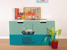 yourdea Sticker für Kinderzimmer IKEA Stuva Kommode mit Motiv: Rettet die Wale: Amazon.de: Küche & Haushalt