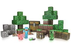 J!NX : Minecraft Paper Craft Overworld Deluxe Set - Clothing Inspired by Video Games & Geek Culture