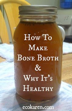 Organic bone broth Organic bone broth and all the benefits of drinking it! (Gluten-Free, SCD & Paleo) How to make bone broth and why it's healthy Chicken Bone Broth Recipe, Bone Broth Soup, Making Bone Broth, Recipe For Bone Broth, Chicken Bone Broth Benefits, Beef Broth, Canning Recipes, Soup Recipes, Fermentation Recipes