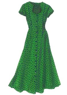 Polka Dot Button Front Dress available at JPeterman.com.