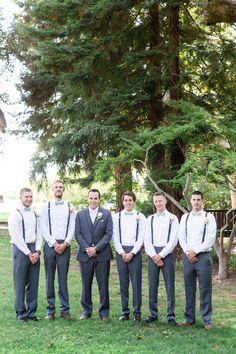 Groomsmen Groom Bow Ties Suspenders Light Blue | Chico-California-Wedding-Photographer-Neighborhood-Church-TréCreative