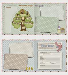 Diário do Bebê Menina para Imprimir (Grátis) - Toda Atual