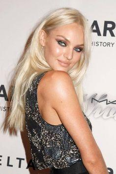 @Christina Bunting Lane I love her color!! Candice Swanepoel platinum blonde hair