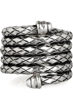 Bottega Veneta Intrecciato Sterling Silver Coil Ring