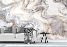 3D Marble Texture Wavy Wall Mural Wallpaper 164 – Jessartdecoration
