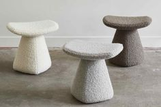 Inspired by chess pieces, the Dam is a light, well-built ceramic stool with a seat made in wood lined with foam and covered with leather. Also available in upholstered wool. Ceramic Furniture, Ceramic Stool, Bench Decor, Bench Stool, Ottoman Stool, Trendy Furniture, Furniture Design, Rick Owens, Pottery Techniques